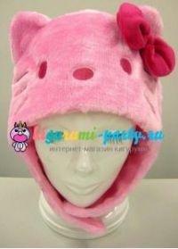 Кигуруми шапка Хелло Китти розовая / Kigurumi cap Hello Kitty pink