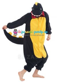 Кигуруми Динозавр чёрный