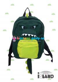 Кигуруми рюкзак Динозавр зелёный