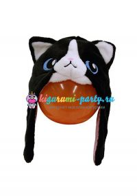 Кигуруми шапка чёрная Кошка
