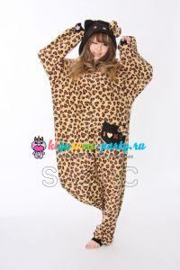 Кигуруми Хелло Китти Леопард коричневый