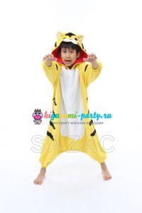 Кигуруми для детей жёлтый Тигрёнок