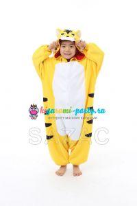 Кигуруми детский весёлый жёлтый Тигрёнок