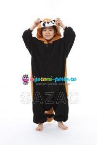 Кигуруми для детей красная (огненная) Панда