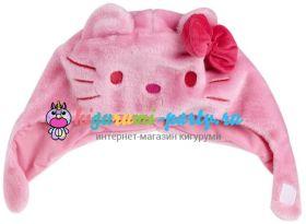Кигуруми шапка Hello Kitty розовая (анфас)
