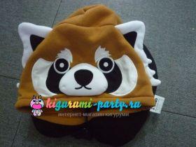 Кигуруми подушка для шеи красная (огненная) Панда