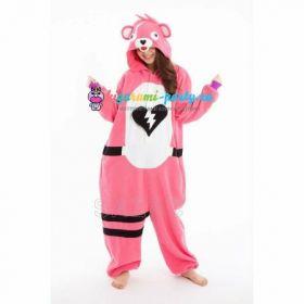 Кигуруми заботливый Мишка розовый Fortnite! / Kigurumi care Bear pink Fortnite! (вполоборота)