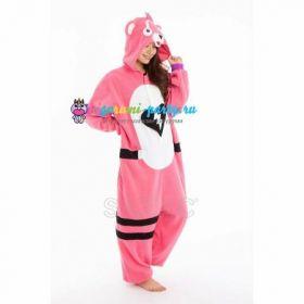 Кигуруми заботливый Мишка розовый Fortnite! / Kigurumi care Bear pink Fortnite! (профиль справа)