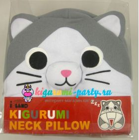 Кигуруми подушка для шеи котёнок Ти по манге Милый дом Ти (в коробке)