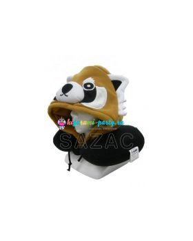 Кигуруми подушка для шеи красная (огненная) Панда (на манекене)