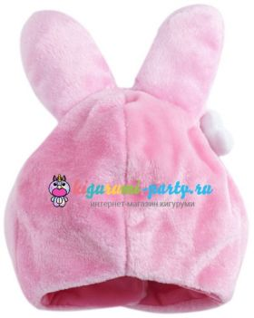 Кигуруми шапка Моя Мелодия розовый (сзади)