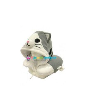Кигуруми подушка для шеи котёнок Ти по манге Милый дом Ти (на манекене)