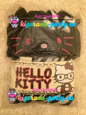Кигуруми Хелло Китти Зебра чёрная / Kigurumi Hello Kitty zebra black (в упаковке)