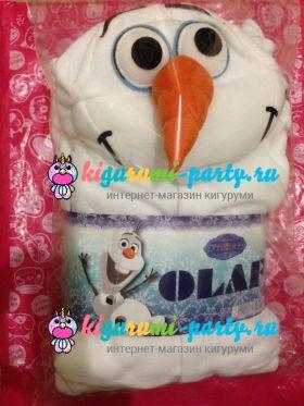 Кигуруми Олаф из м/ф Холодное Сердце / англ. Kigurumi Olaf from Frozen (в упаковке)