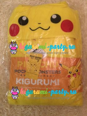 Кигуруми Покемон Пикачу / англ. Kigurumi Pokemon Pikachu (в упаковке)