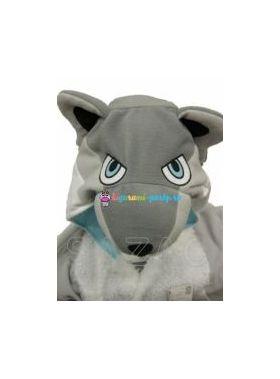 Кигуруми серый Волк (большое лицо)