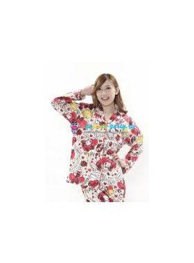 Кигуруми пижама Моя Мелодия Маймеро селфи / Kigurumi pizhama Check My Melody Maimero (большое лицо)