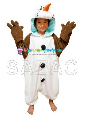 Кигуруми для детей Олаф из м/ф Холодное Сердце /Kigurumi Frozen Olaf/