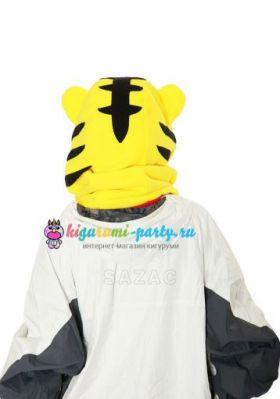 Кигуруми капор Тигр жёлтый (сзади, одет)