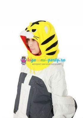 Кигуруми капор Тигр жёлтый (вполоборота)