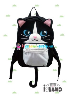 Кигуруми рюкзак чёрная Кошка