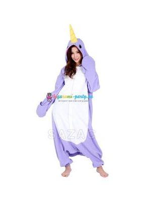 Кигуруми Нарвал (Единорог) фиолетовый