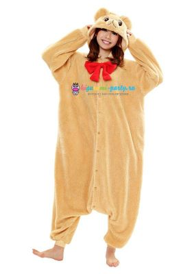 Кигуруми Медвежонок Тедди бежевый