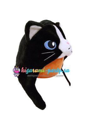 Кигуруми шапка чёрная Кошка правая сторона