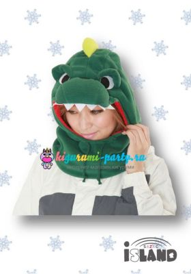 Кигуруми капор Динозавр зелёный