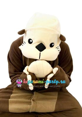 Кигуруми морская Выдра (калан) / Kigurumi Sea Otter (большое лицо)