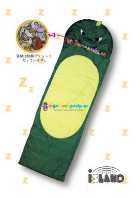 Кигуруми спальный мешок Динозавр зелёный