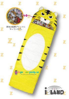 Кигуруми спальный мешок Тигр жёлтый