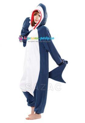 Кигуруми Акула тёмно-синяя (вполоборота)