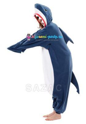 Кигуруми Акула тёмно-синяя (профиль)