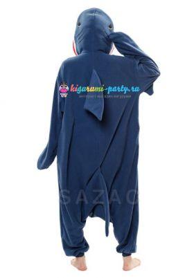 Кигуруми Акула тёмно-синяя (сзади)