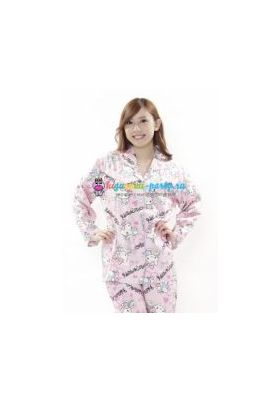 Кигуруми пижама Хелло Китти пушистый хвост (большое лицо)