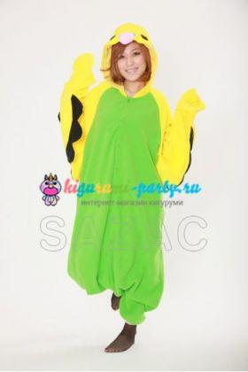 Кигуруми Волнистый Попугайчик зелёный