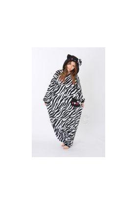 Кигуруми Хелло Китти Зебра чёрная / Kigurumi Hello Kitty zebra black (вполоборота)
