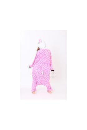 Кигуруми Хелло Китти Зебра розовая / Kigurumi Hello Kitty zebra pink (сзади)