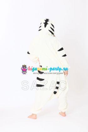 Кигуруми Тигр белый (сзади)