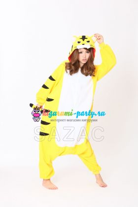 Кигуруми весёлый Тигр жёлтый
