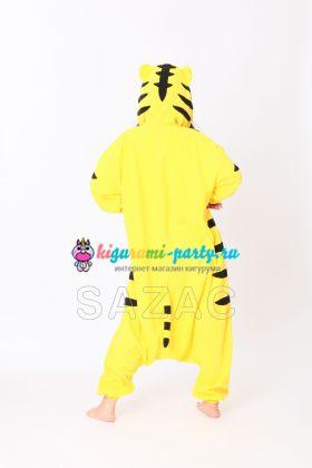 Кигуруми Тигр жёлтый (сзади)