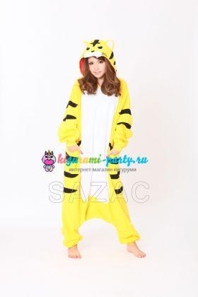 Кигуруми Тигр жёлтый (вполоборота)