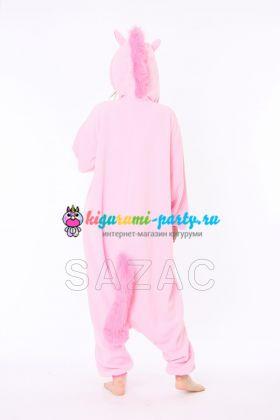 Кигуруми Единорог розовый / Kigurumi Unicorn pink (сзади)