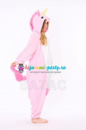 Кигуруми Единорог розовый / Kigurumi Unicorn pink (в профиль)