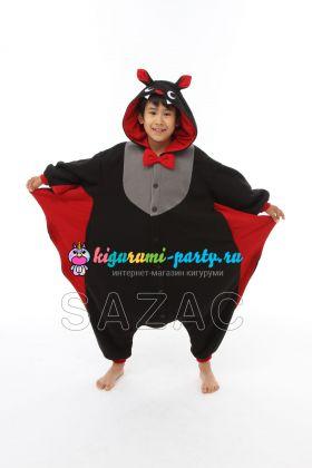 Кигуруми для детей летучая Мышь (на Хеллоуин) (анфас)