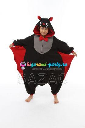 Кигуруми для детей летучая Мышь (на Хеллоуин) (вполоборота)