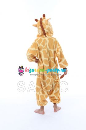 Кигуруми для детей Жирафик (сзади)