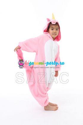 Кигуруми для детей Единорог розовый (профиль)