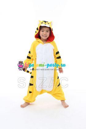 Кигуруми для детей весёлый жёлтый Тигрёнок (анфас)